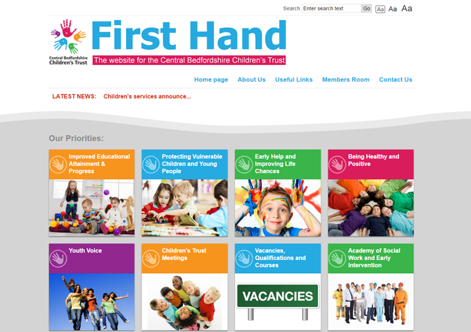 First Hand - The website for the Central Bedfordshire Children's Trust